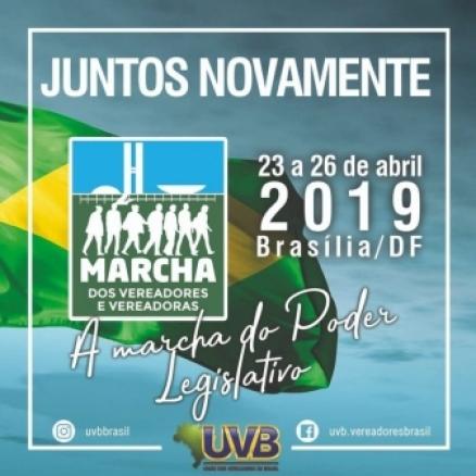 UVB divulga data da Marcha dos Vereadores 2019
